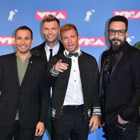 Die Backstreet Boys Howie Dorough, Nick Carter, Brian Littrell, AJ McLean und Kevin Richardson bei den MTV Music Awards 2018.