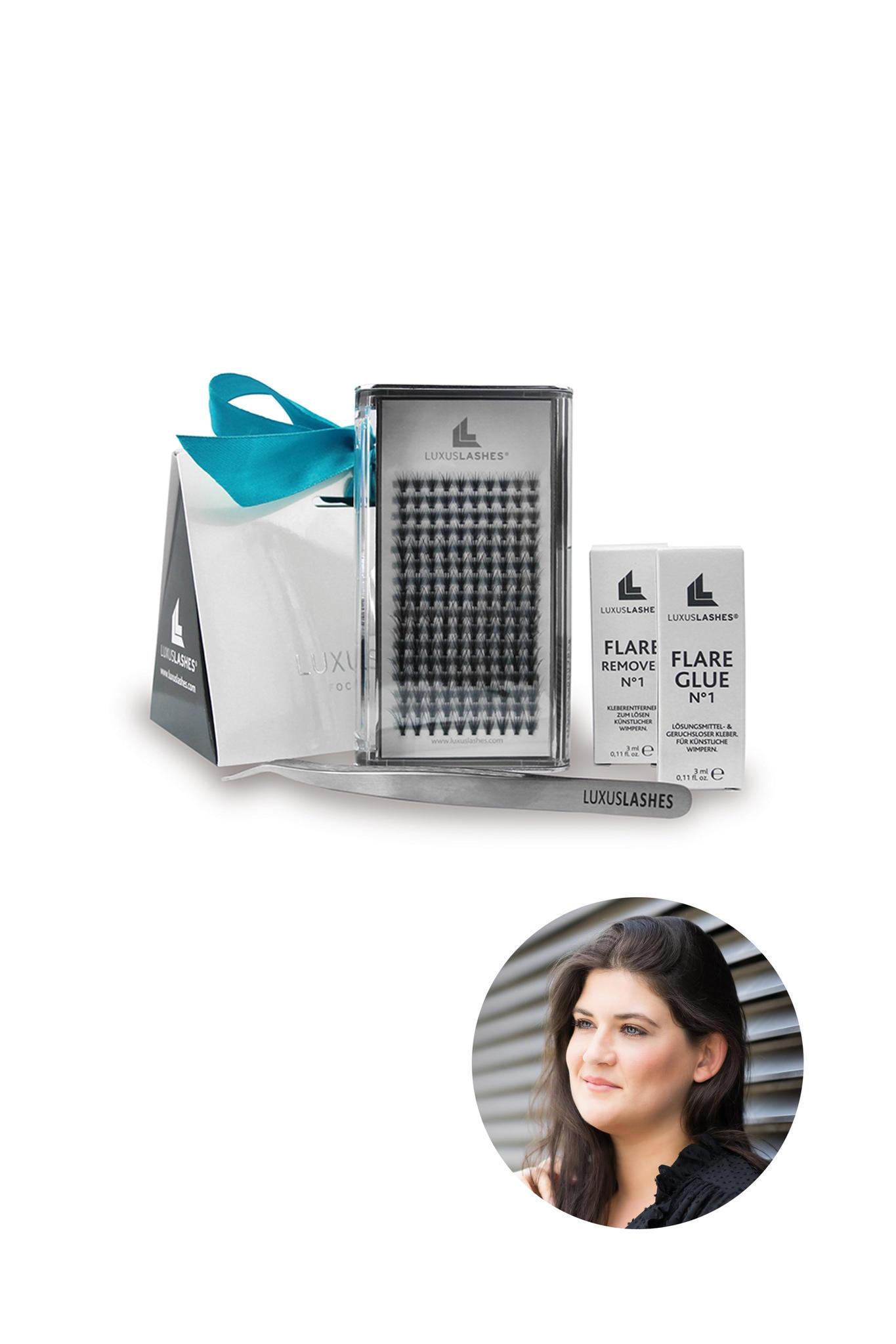 Beauty- und Fashion-Redakteurin Lisa testet die Wimpernextensions von Luxuslashes zuhause.
