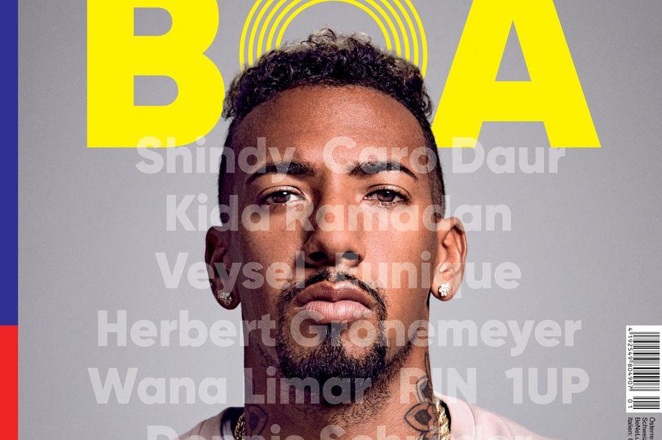 Er ist ein begnadeter Fußballspieler und Fashion-Ikone. Er verbindet Streetstyle mit Haltung: Jérôme Boateng ist mehr als nur Sportler. Sein Magazin BOA istab sofort am Kiosk erhältlich.
