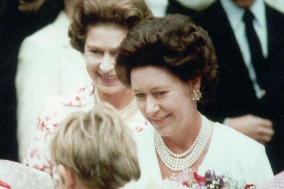 Prinzessin Margaret + Queen Elizabeth