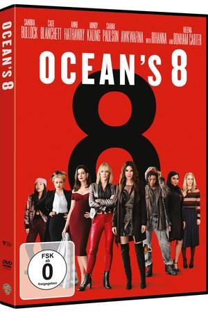 """""""Ocean's 8"""" istauf DVD, Blu-ray und 4K UHD erhältlich."""