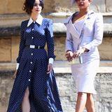 """Meghans ehemalige """"Suits""""-Kollegin Abigail Spencer trägt genau das gleiche Kleid aus der Feder von Alessandra Rich zur Hochzeit von Prinz Harry und Herzogin Meghan im Mai."""