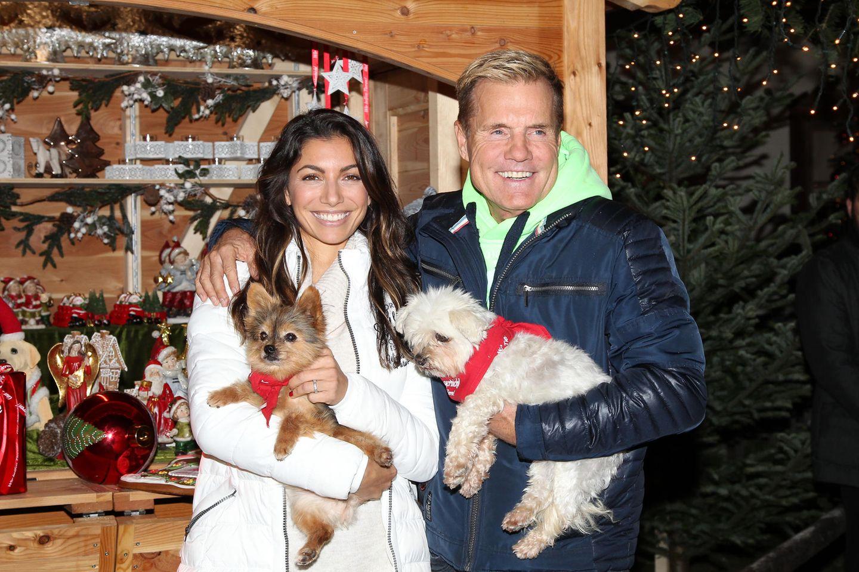 Dieter Bohlen und seine Partnerin Carina Walz sind auch zur exklusiven Eröffnung des Weihnachtsmarktes auf Gut Aiderbichl.