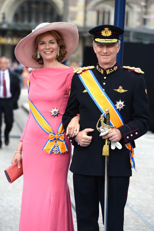Königin Mathilde und König Philippe