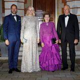 Königlicher Besuch aus Norwegen:Prinz Haakon, Prinzessin Mette-Marit, Königin Sonja und König Haraldsind ebenfalls Gäste des Galadinners im Buckingham Palast.