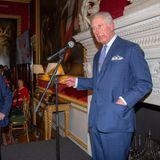 Geburtstagskind Charles hält eine Rede bei der Tea Party der The Sun zu seinem 70. Geburtstag in London.