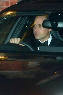 Auch Prinz William und Herzogin Catherine sind unterwegs zum Galadinner des Vaters, bzw. Schwiegervaters.