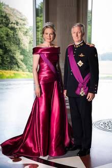 15. November 2018   Neue offizielle Bilder zum belgischen Königstag:Philippe und Mathilde von Belgien zeigen sich in royaler Pracht.