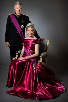 15. November 2018  König Philippe und Königin Mathilde posieren anlässlich des belgischen Königstags.