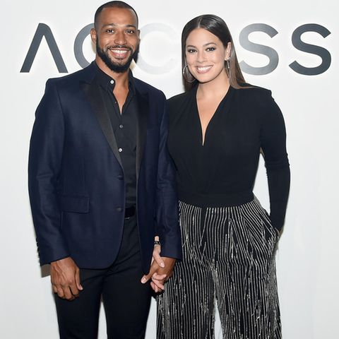 Ashley Graham und ihr Ehemann Justin Ervin in New York, 2017.