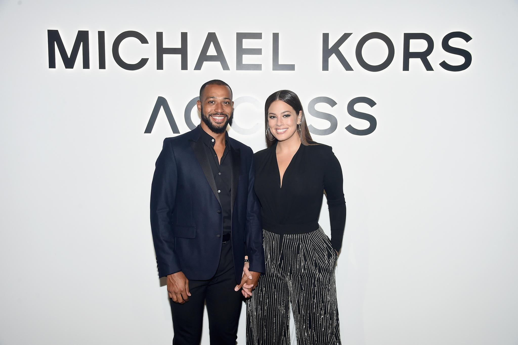 Ashley Graham und ihr Ehemann Justin Ervin in New York, 2017.