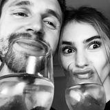 15. November 2018  Model Stefanie Giesinger und Freund Marcus Butler posten ein lustiges Pärchenfoto vom gemeinsamen Dinner: Ein bisschen Spaß muss schließlich sein.