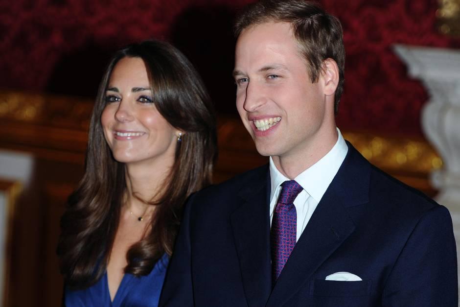 Herzogin Catherine - damals noch Kate Middleton - und Prinz William am Tag der Bekanntgabe ihrer Verlobung