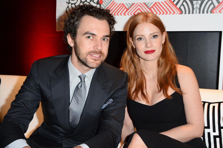 Gian Luca Passi de Preposulo und Jessica Chastain freuen sich über Nachwuchs