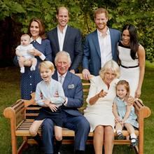 Prinz Charles hat seine Enkel George, Charlotte und Louis während des Familienporträts gut unterhalten