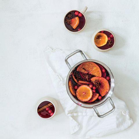Glühwein mit Cranberrysaft