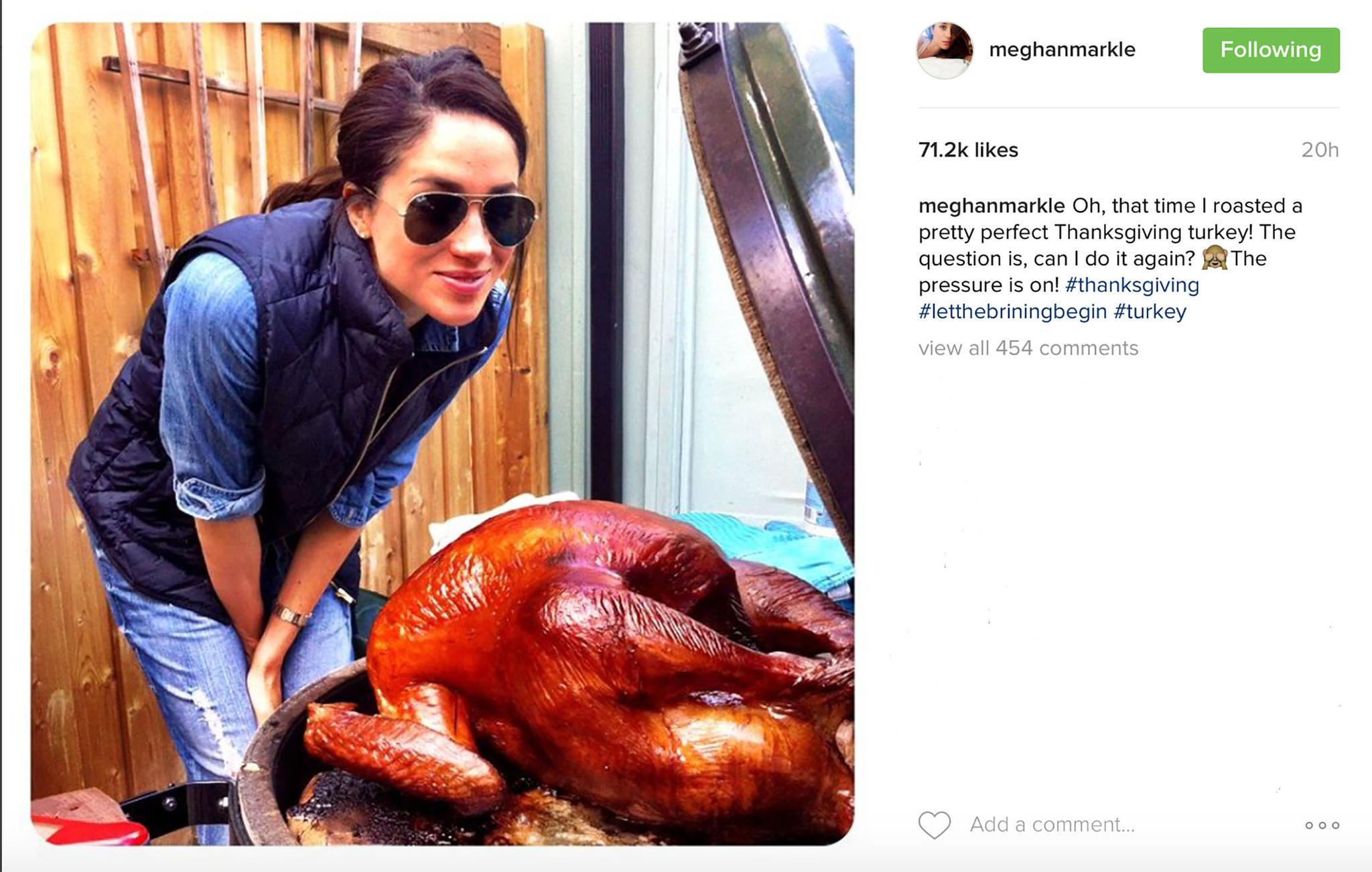 Herzogin Meghan feiert Thanksgiving