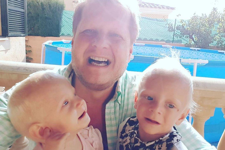 Jens Büchner und seine Zwillinge d Jenna Soraya undDiego Armani