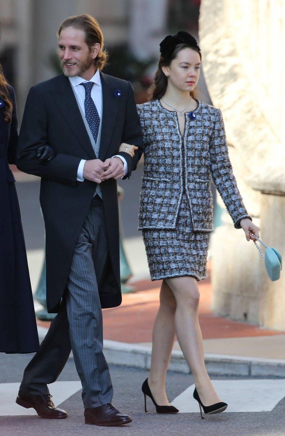 Andrea Casiraghi und Schwester Alexandra von Hannover während derFeierlichkeiten zum Nationalfeiertag in Monte-Carlo.