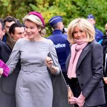 Königin Mathilde und Brigitte Macron