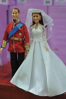 Spielzeugfiguren von Prinz William und Herzogin Kate