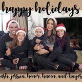 """Familie Alba hat eine Weihnachtskarte gebastelt und wünscht so Freunden und Fans """"Happy Holidays""""."""