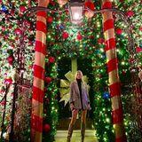 Lena im Wonderland: Das Model Lena Gercke knipst im weihnachtlich dekorierten LondonerAnnabel's ein Erinnerungsfoto und teilt es bei Instagram.