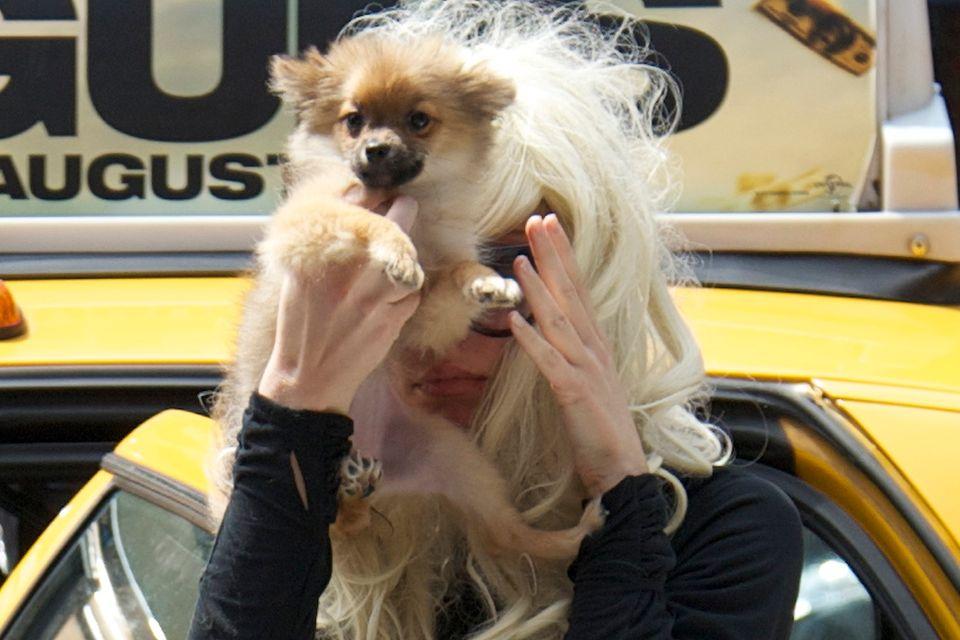 Mit Auftritten wie diesem in New York 2013 sorgte Amanda Bynes für Kopfschütteln