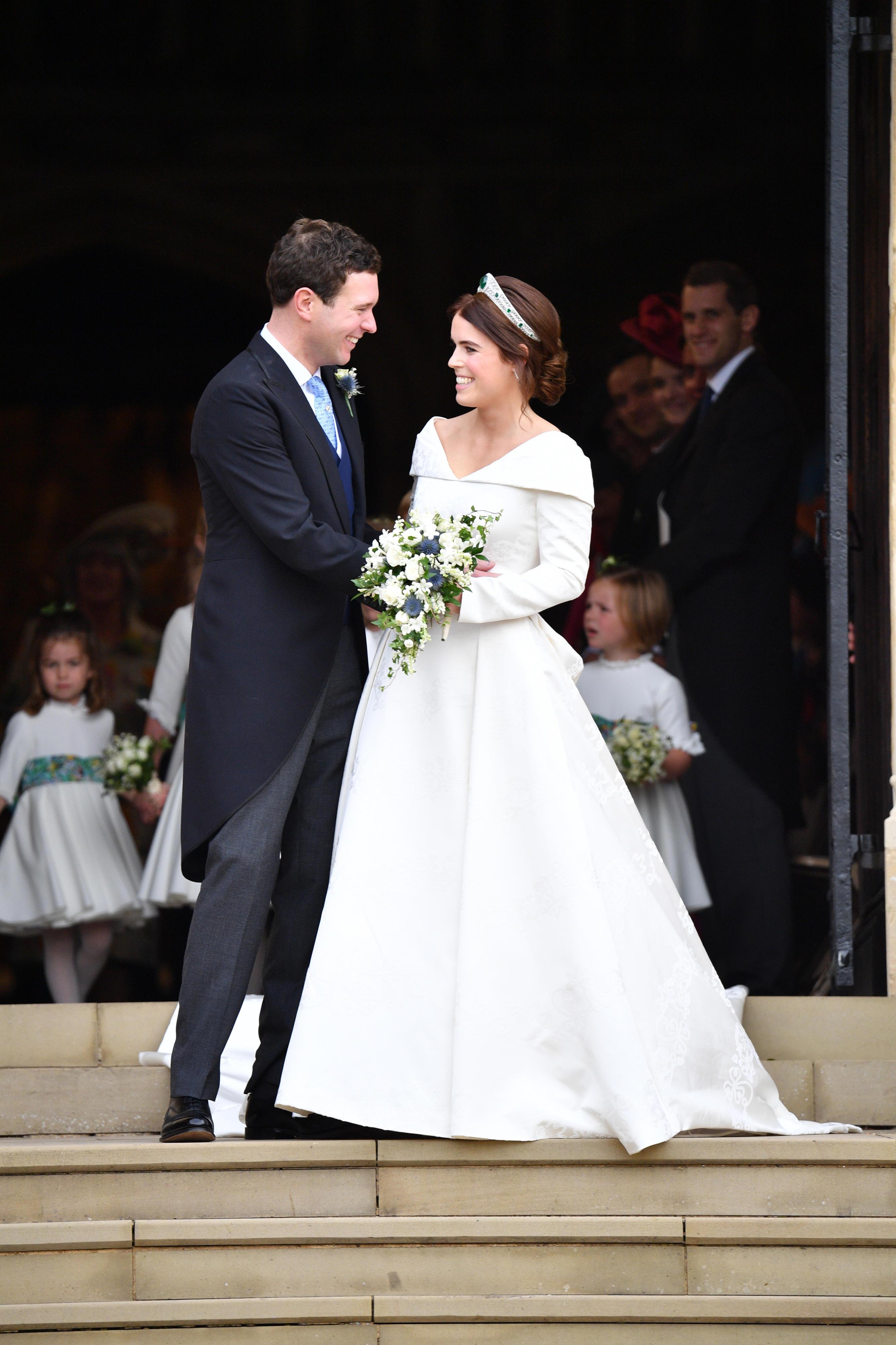 Jack Brooksbank und Prinzessin Eugenie am Tag ihrer Hochzeit