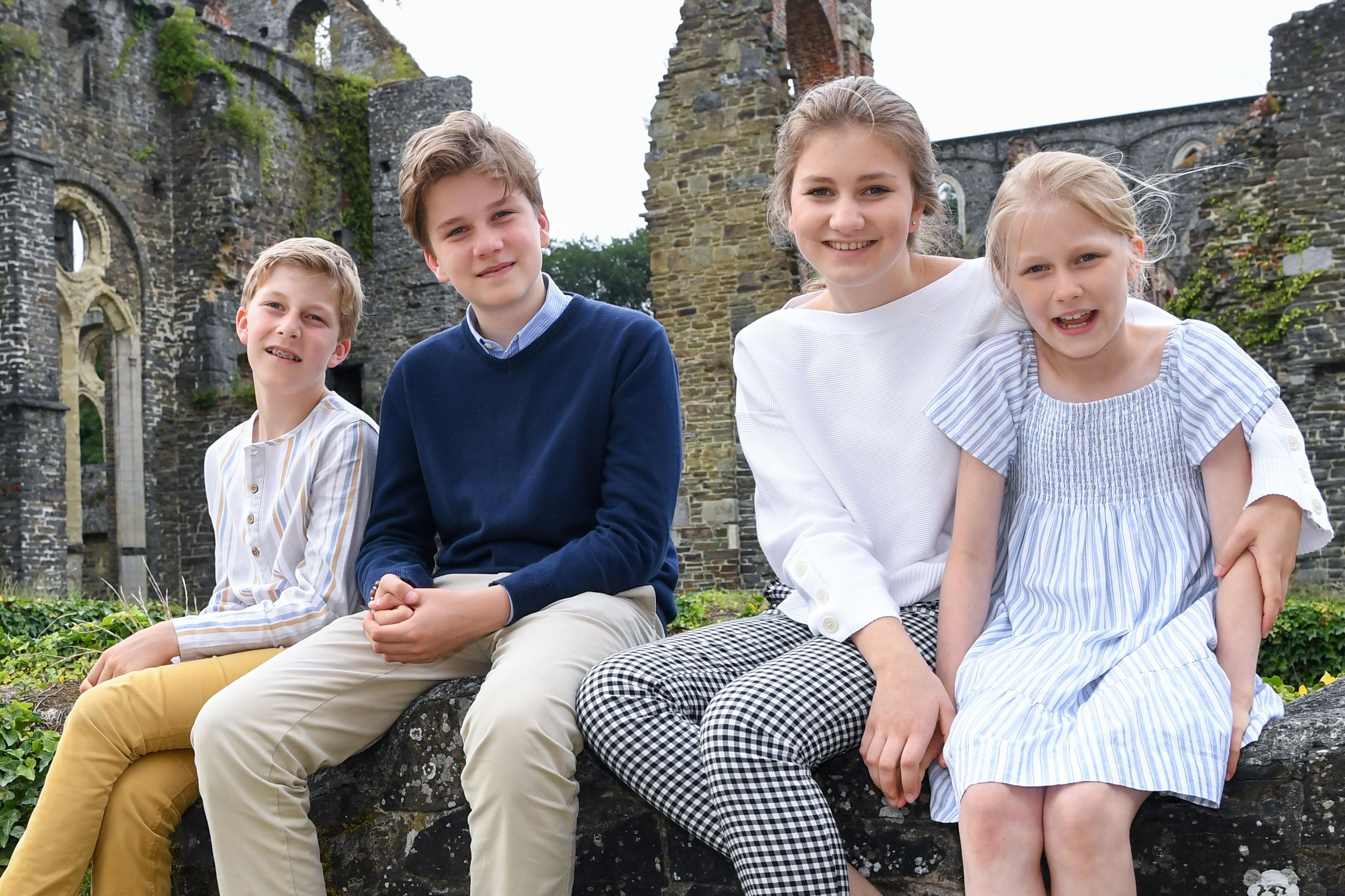 Prinz Emmanuel, Prinz Gabriel, Prinzessin Elisabeth und Prinzessin Eléonore