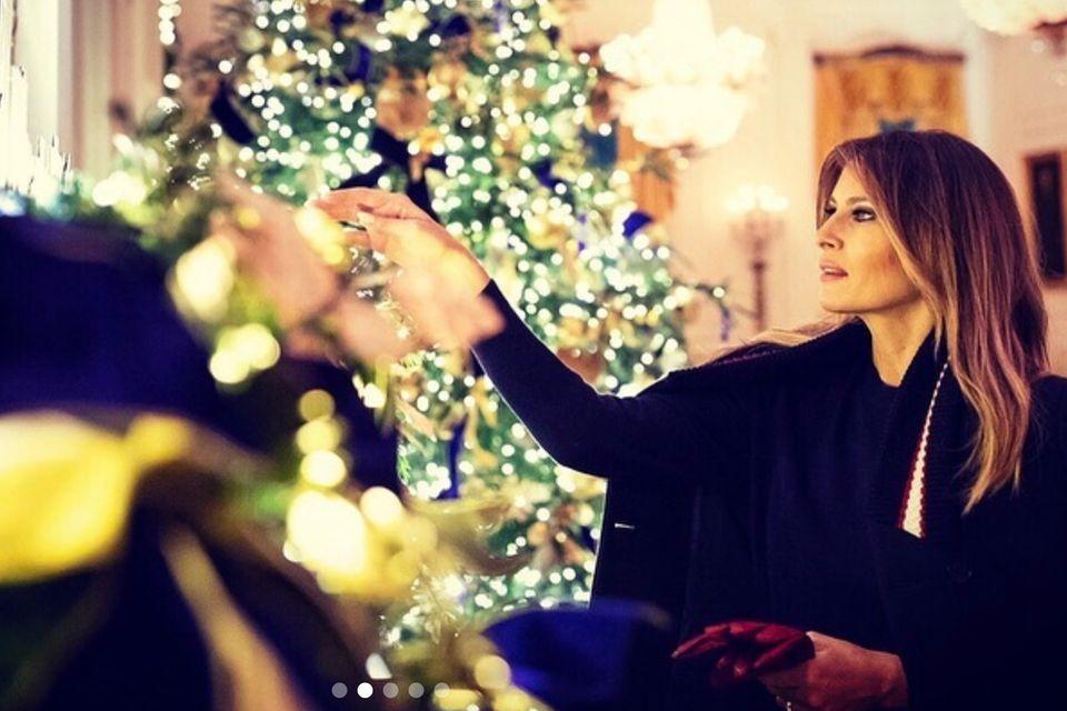 Melania Trump und die Weihnachts-Deko im Weißen Haus 2019
