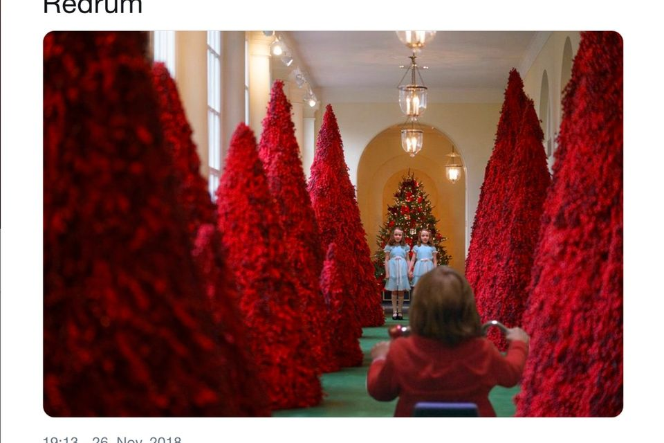 """""""Shining"""" meets """"The Whte House Christmas Trees"""""""