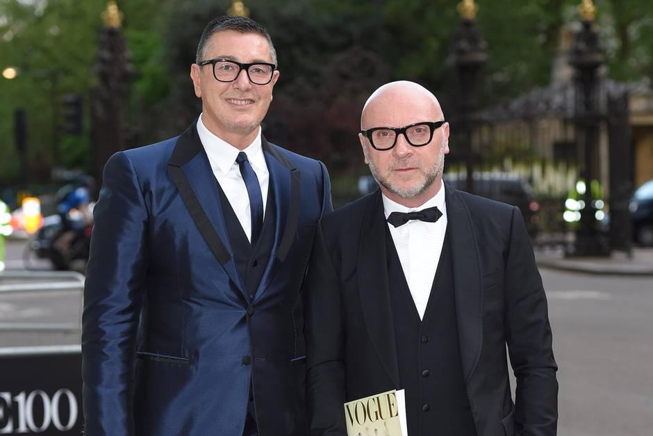 Domenico Dolce (l.) + Stefano Gabbana