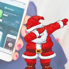 Ein Weihnachtsmann als Profilfoto bei WhatsApp könnte für Ärger sorgen