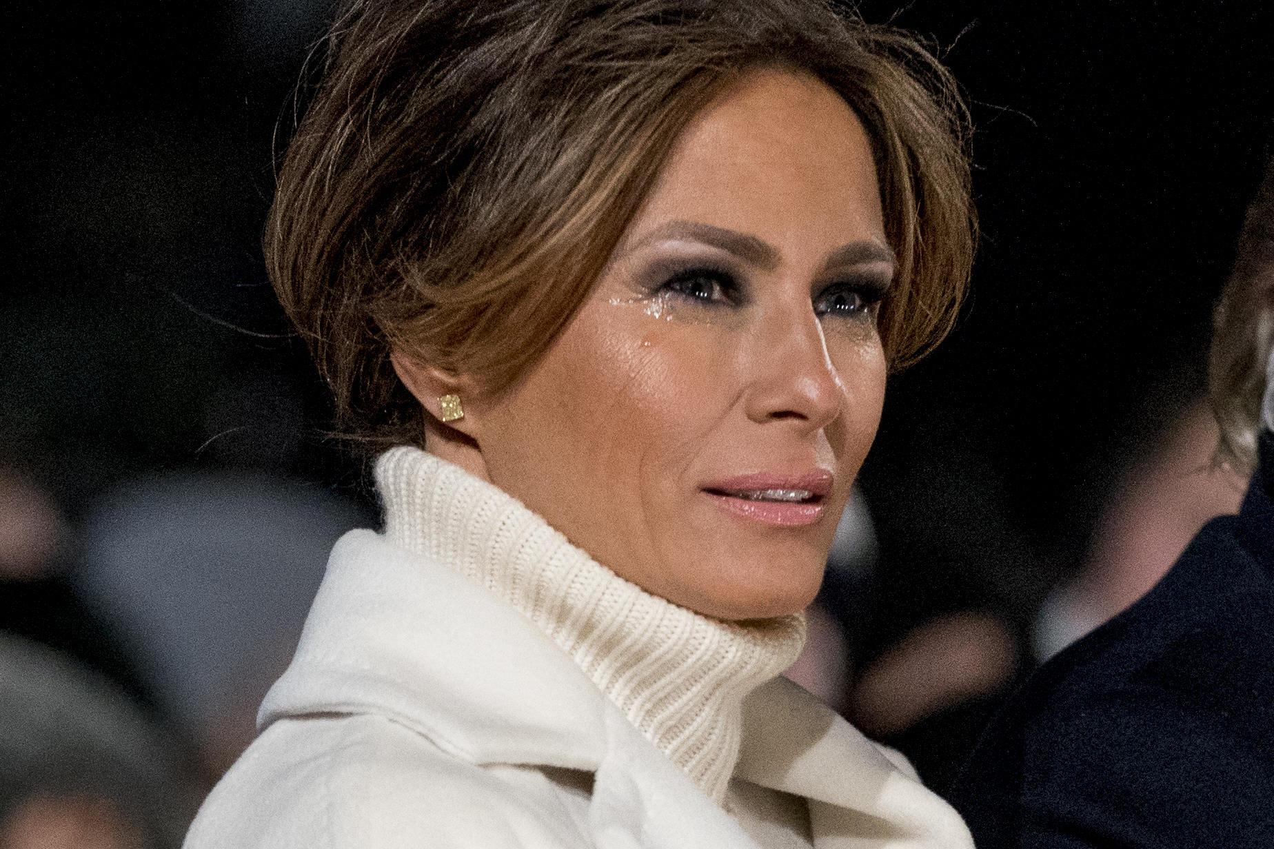 "Melania Trump weinend am 28. November 2018 beim ""Christmas Tree Lightning"""