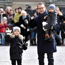 Prinzessin Estelle, Prinz Daniel und Prinz Oscar.