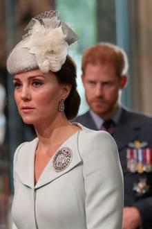 Herzogin Catherine mit Prinz Harry und Herzogin Meghan
