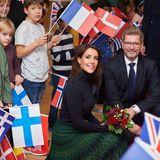 29. November 2018  Prinzessin Marie weiht den neuen Sitzder Europaschule in Kopenhagen ein und wird dabei von vielen kleinen Fans freudig begrüßt.