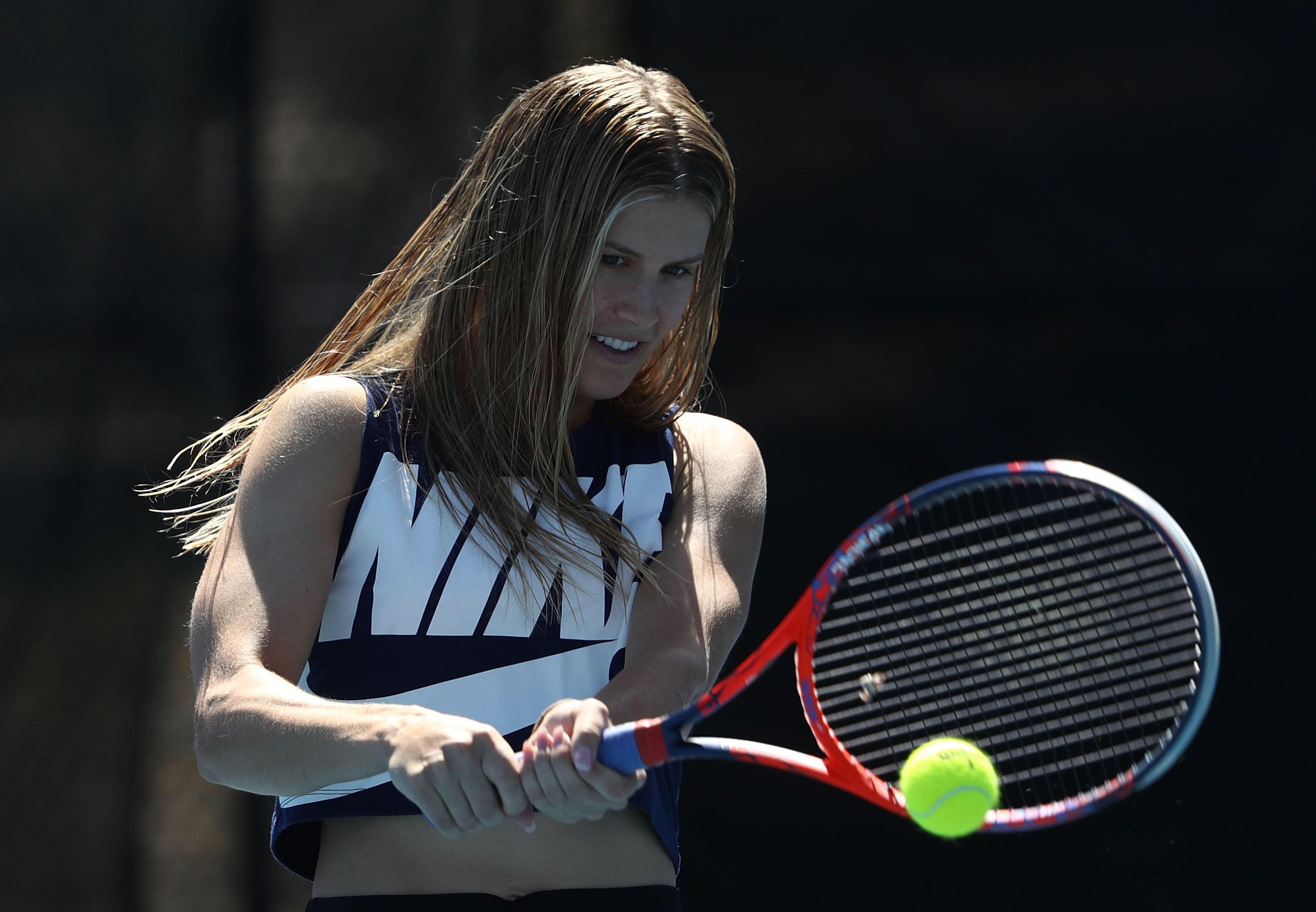 Eugenie Bouchard in ihrem eigentlichen Element - dem Tennisspiel