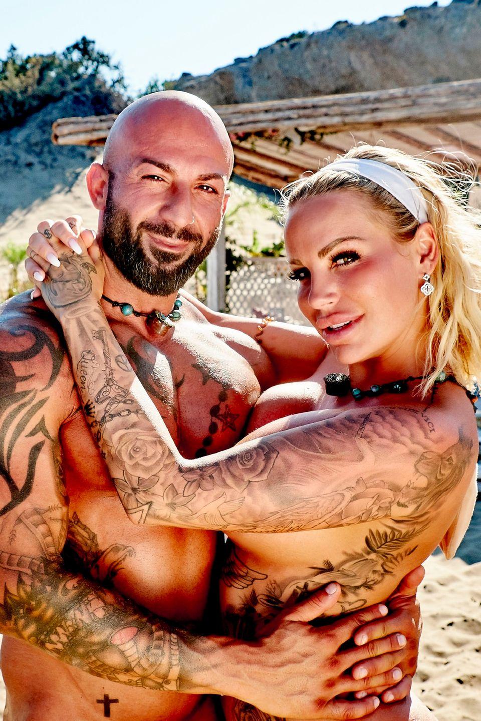 """Gina-Lisa Lohfink und Antonino haben sich bei """"Adam sucht Eva"""" verliebt"""
