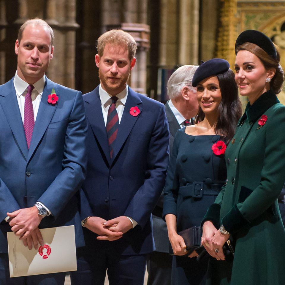 Prinz William, Prinz Harry, Herzogin Meghan, Herzogin Catherine