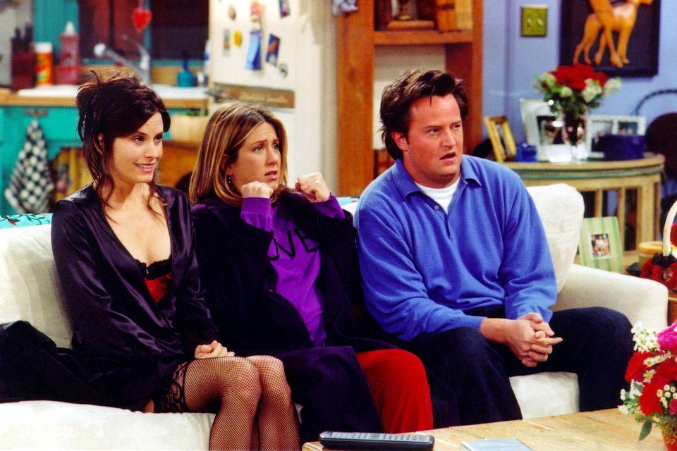 """Ungefähr so verfolgten Fans der Serie """"Friends"""" den Streaming-Krimi um ihre Lieblingsserie am Wochenende"""