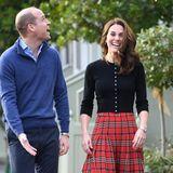 Damit haben Catherine und William wohl selbst nicht gerechnet. Sie freuen sich sehr über das authentische Setting ihrer Weihnachtsfeier.