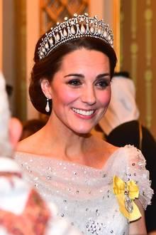 Herzogin Catherine beim Empfang des diplomatischen Corps
