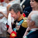Mai 2018  Bei der nachfolgenden Feier kommen dem Geburtstagskind Prinz Frederik die Tränen, als seine Frau Prinzessin Mary eine Rede für ihn hält.