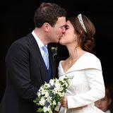 Oktober 2018  Am 12. Oktober ist es soweit: Prinzessin Eugenie heiratet ihren Bräutigan Jack Brooksbank in derSt. Georges Chapelin Windsor.