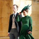 Oktober 2018  Sie ist zwar kein direkter Royal, sorgtim britischen Königshaus aber dennoch für freudige Nachrichten. Herzogin Kates Schwester Pippa Middleton bringt am 15. Oktober ihr erstes Kind, einen Sohn, zur Welt. Seit Mai 2017 ist Pippa mit dem Hedgefonds-Manager James Matthews verheiratet.