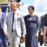 Oktober 2018  Und noch ein royales Highlight des britischen Königshauses! Während ihrer Australien-Reise im Herbst verkündetder Palast, Herzogin Meghan erwarte im Frühjahr nächsten Jahres ihr erstes Kind. Der Babybauch von Prinz Harrys Frau ist nun auch nicht mehr zu verstecken. Wir freuen uns schon auf die Babybilder im nächsten Jahr!