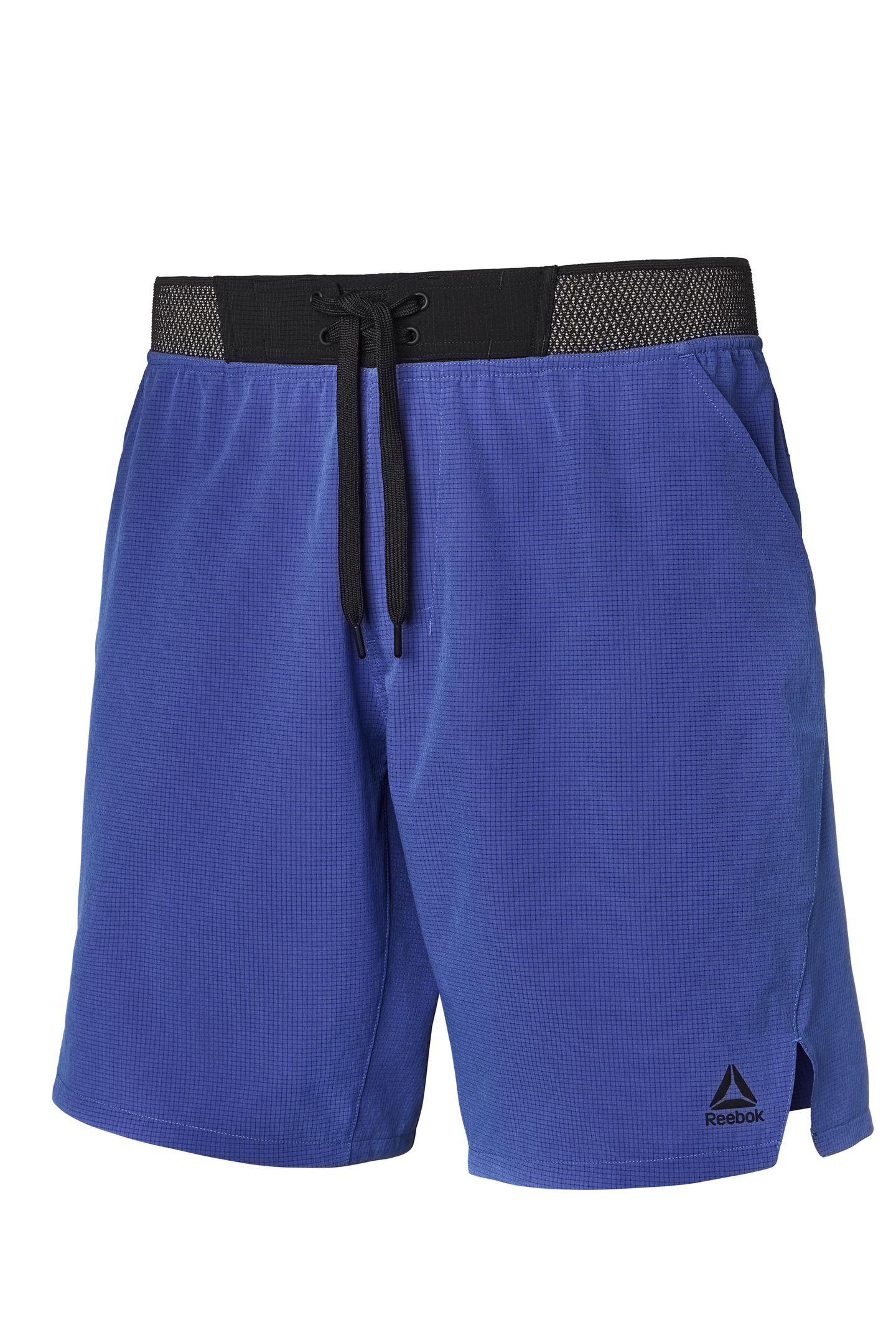 Uneingeschränkte Bewegungsfreiheit und sicherer Sitz bei Squats, Agilitätsübungen und Co.: Die Epic Knit Shorts wird jedem Fitness Buddy gefallen. Reebok, ca. 50 Euro.
