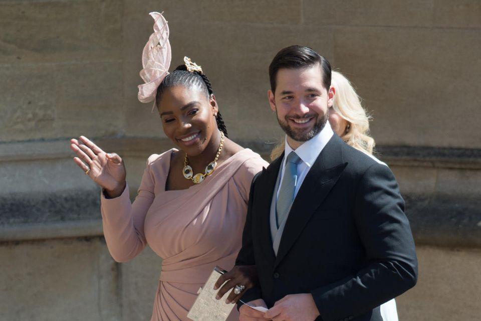 Serena Williams erschien gemeinsam mit Ehemann Alexis Onassis zu Herzogin Meghans Traumhochzeit im britischen Windsor.